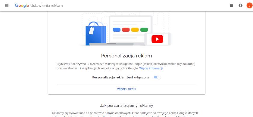 personalizacja reklam w google