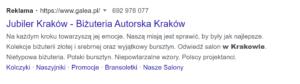 Przykład USP - Biżuteria Autorska Kraków