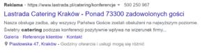 Przykład reklamy z liczbą